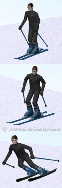 Different skiing stances